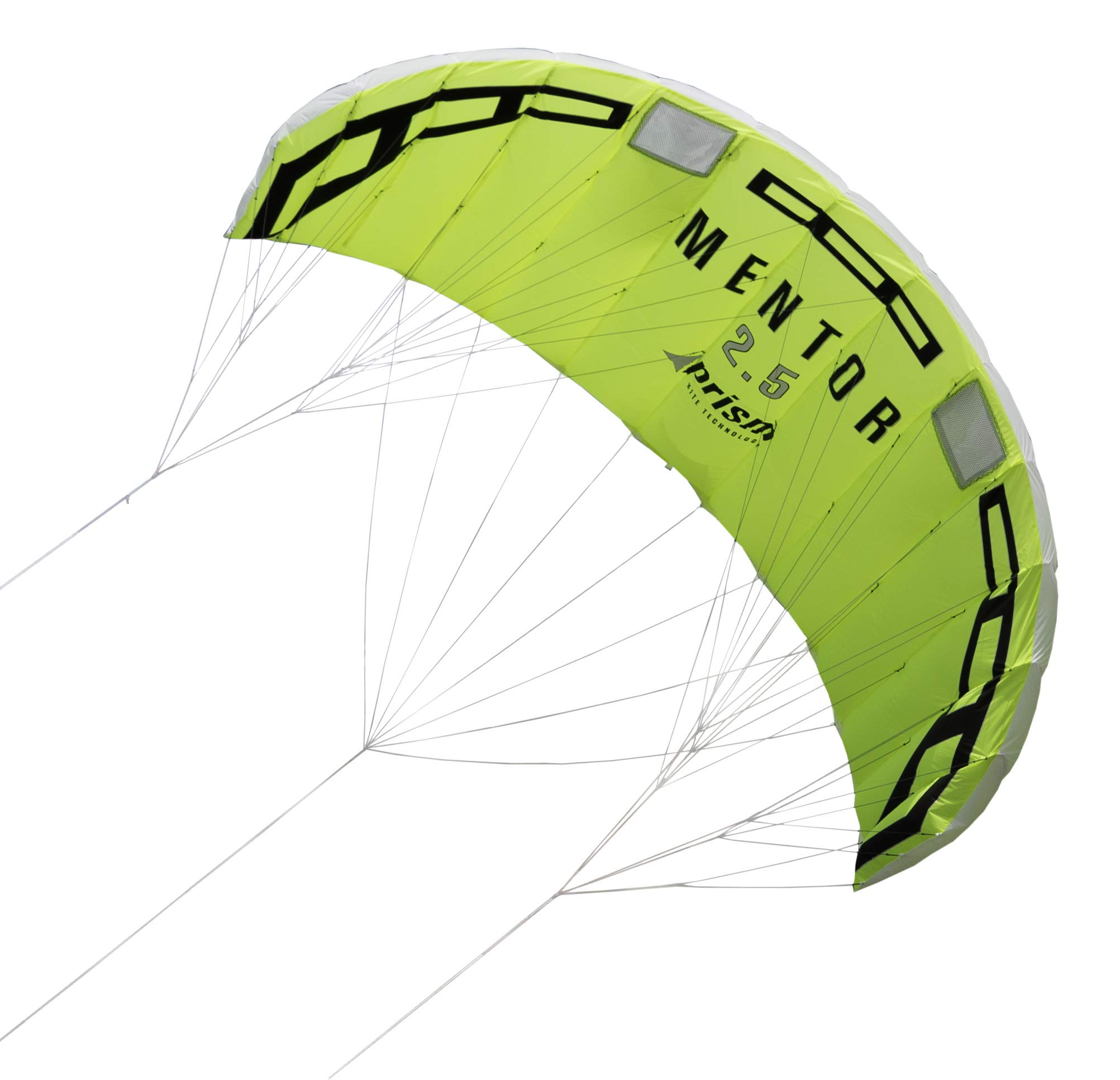 Prism Mentor 2.5m Water-relaunchable Three-line Power Kite Ready to Fly with Control bar, Ground Stake and Quick Release Safety Leash
