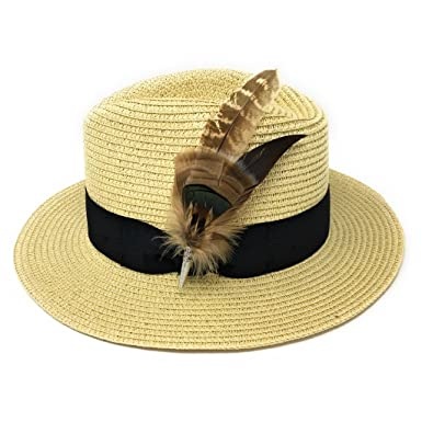 0ecda0d4d671e Womens Summer Fedora Hat Panama Style with Removable English Country Feather  Brooch - Dovecote. Colours