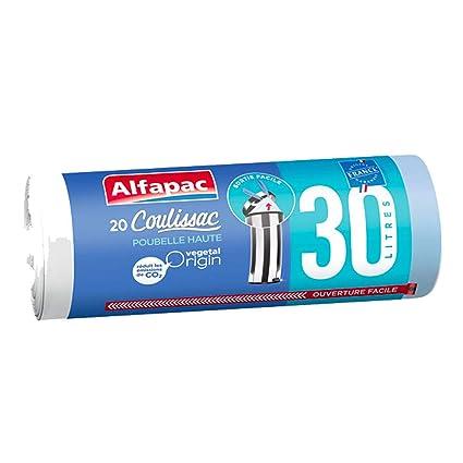 Alfapac - Lote de 2 bolsas de 30 litros con enlaces ...