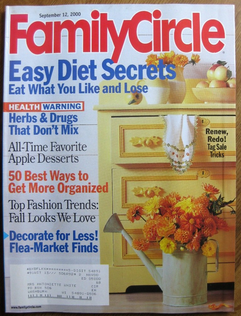 Read Online Family Circle Magazine September 12, 2000 pdf epub