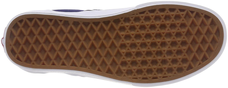Vans Unisex Classic Slip-On (Perf Leather) Skate Shoe B074H6JLDK 13 M US Women / 11.5 M US Men Checkerboard Estate Blue White