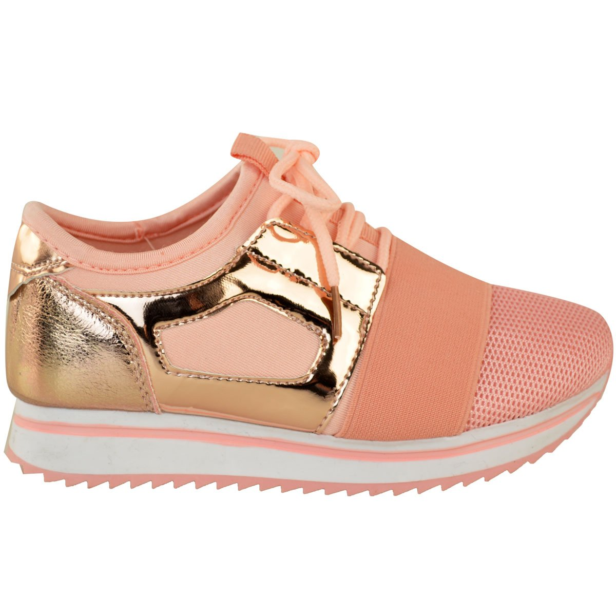Fashion Thirsty Girls Kids Unisex Bali Sneakers Runners Sport Glitter Pumps Shoes Size