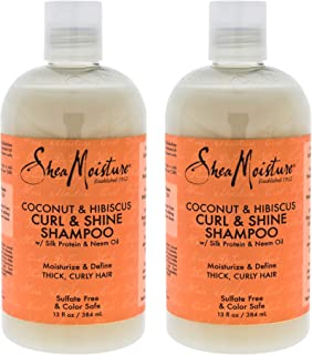 product image for Shea Moisture Coconut & Hibiscus Curl & Shine Shampoo Pack Of 2, 13 Oz