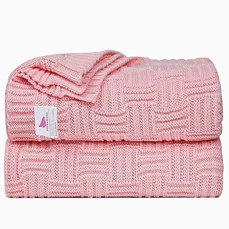 Amazon.com: uxcell - Manta de punto suave 100% algodón para ...
