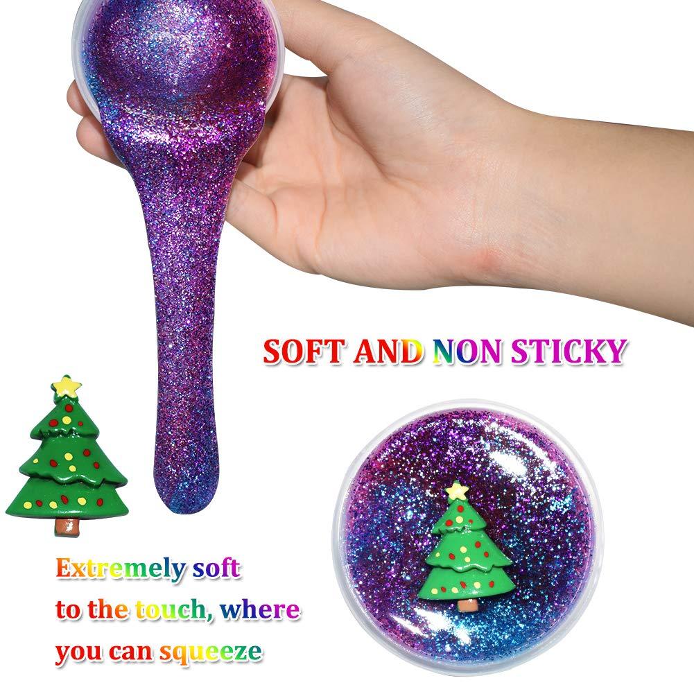 SWZY Weihnachten Schleim Kit, Fluffy Slime Flauschiges Schleim ...