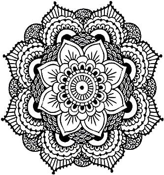 Tatuajes temporales de mandala rosetón floral para hombre y mujer ...