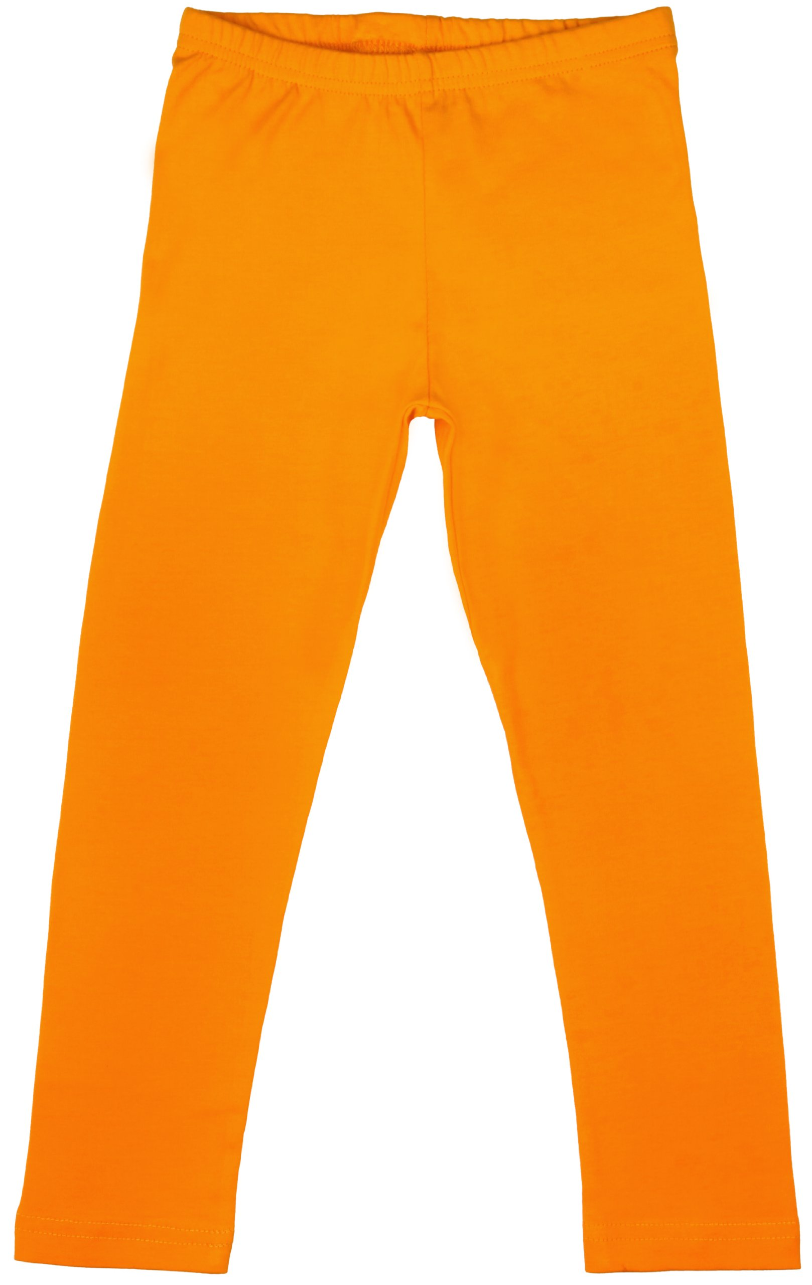 Back From Bali Little Girls Leggings Orange Yellow X-Small