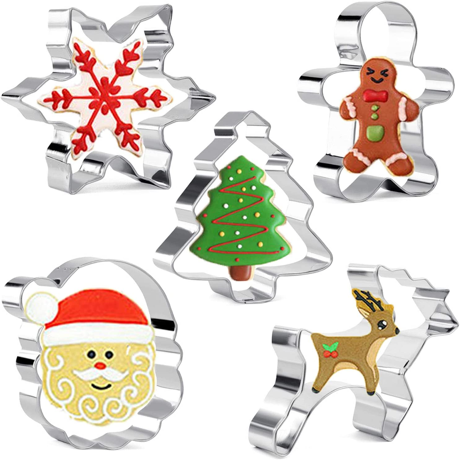 Set of 24 Assorted Tiny Sugary Gingerbread Themed Christmas Ornaments