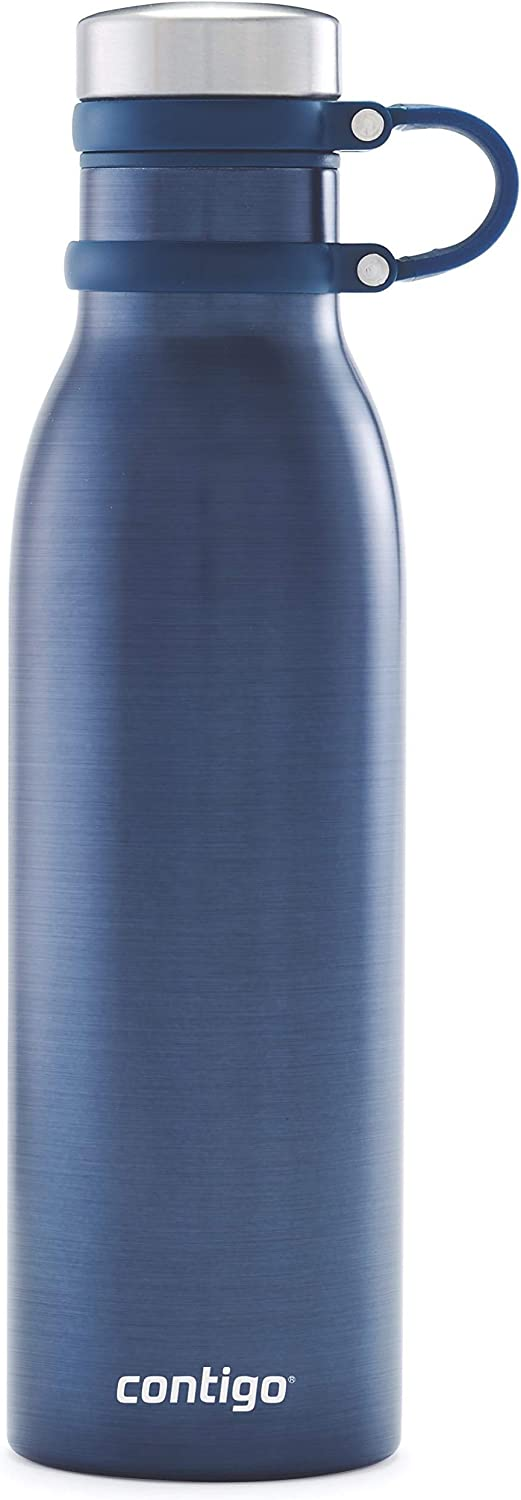 Contigo Couture THERMALOCK Vacuum-Insulated Stainless Steel Water Bottle, 20oz, Blueberry Transparent