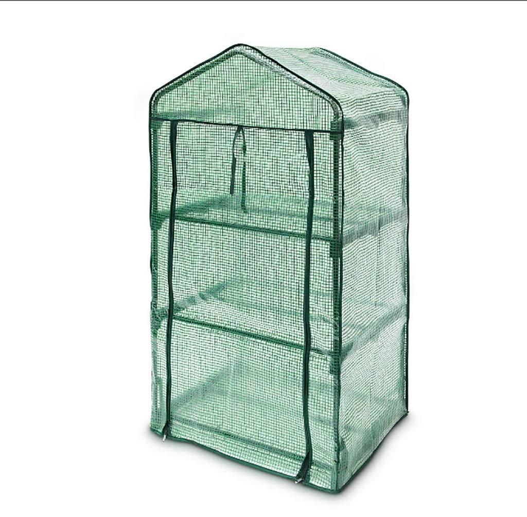 ガーデン温室:屋内屋外植物用カバーハーブフラワーコートヤードバルコニーグリーン B07KMR58BR