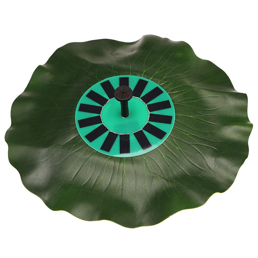 Anself Solar-power Lotus Leaf Fountain Pond Brushless Water Pump with Monocrystalline Solar Panel by Anself (Image #1)