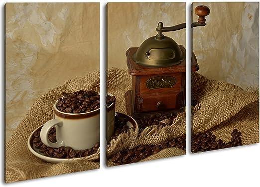 Cafetera eléctrica Antiguos como Lienzo, diseño enmarcado en marco de madera, impresión digital de alta calidad con marco, no es un póster o cartel, lona, Dreiteilig (120x80): Amazon.es: Juguetes y juegos
