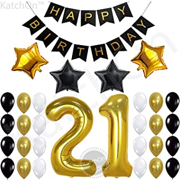 Amazon Com 21st Birthday Decorations Party Supplies 21st Birthday