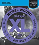 D'Addario XL Nickel Wound Electric Guitar Strings, Medium Balanced Tension Gauge - Round Wound with Nickel-Plated Steel for Long Lasting Distinctive Bright Tone and Excellent Intonation - 11-50, 1 Set