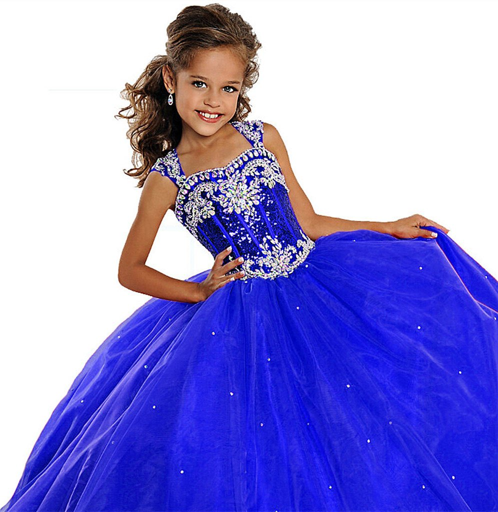 Royal Blue Long Pageant Dress: Amazon.com
