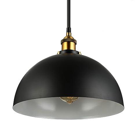 Vintage la de lámpara ajustablenegro araña diámetro de pantalla lámparas E27 30cm industria lámpara techo altura redondo de BAYCHEER YE9e2IbWDH