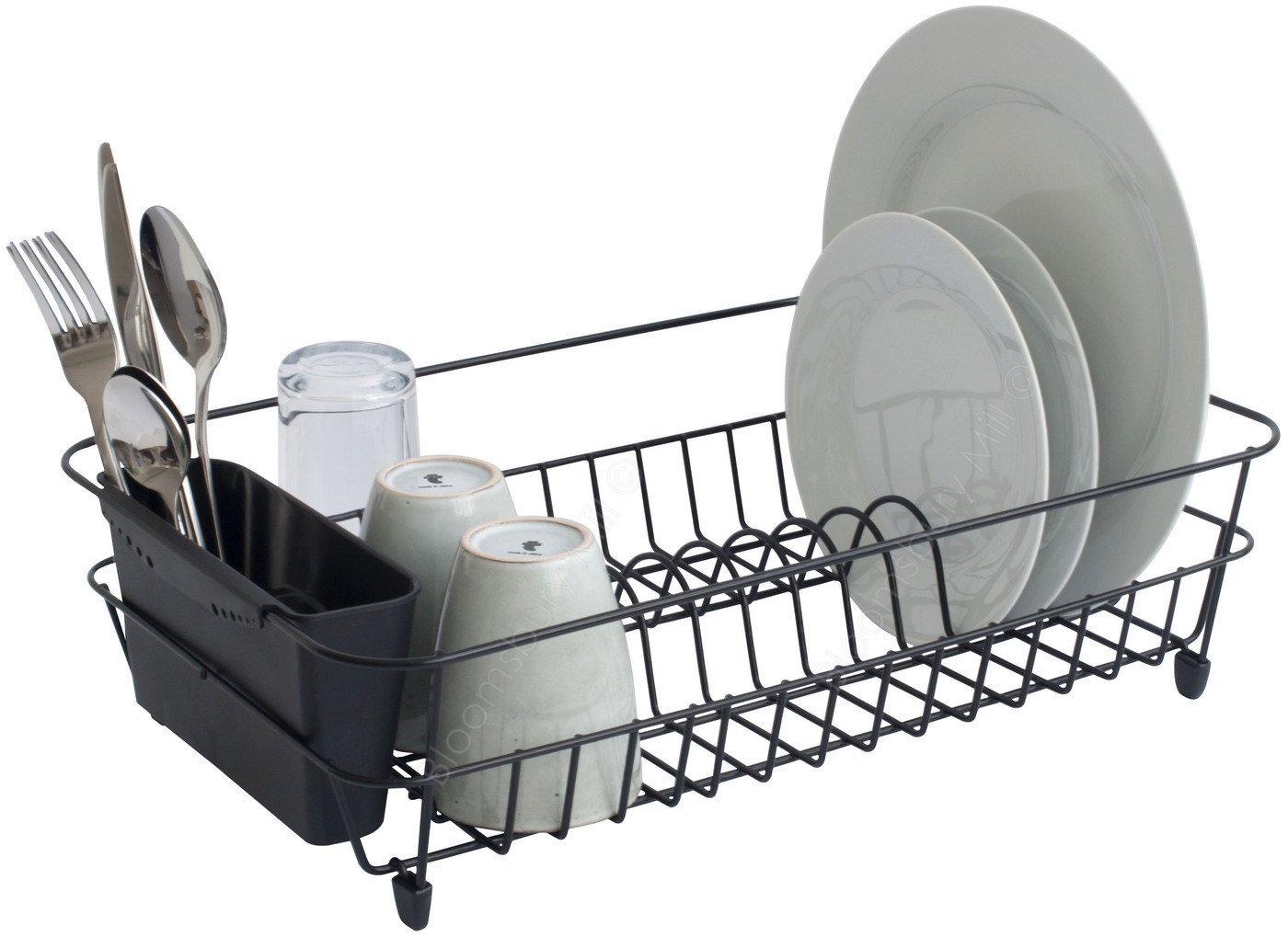 Bloomsbury Mill - Black Wire Dish Drainer Plate Drying Rack with ...