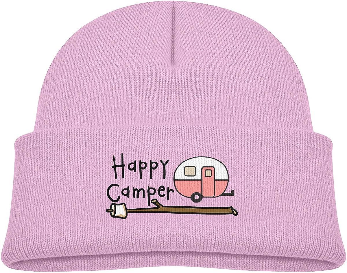 Car Happy Camper Kids Knitted Beanies Hat Winter Cap Warm Hat