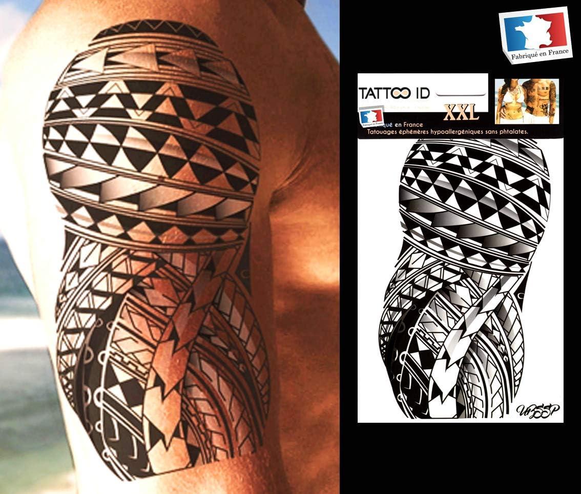Tattoo ID XXL Samoan Tribal polynésien Maori tatuaje Ephemere ...