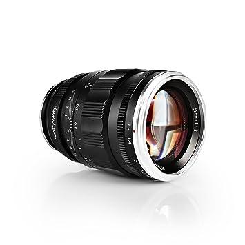 Kamlan 55mm F1.2 Large Aperture Manual Focus Prime Fixed Lens for ...