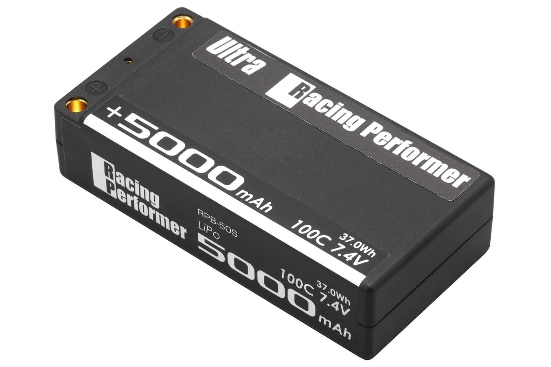 YOKOMO B-シリーズ Li-Po 7.4V 5000mAh 100C レーシングパフォーマー (+)5mm/ (-)4mm コネクター仕様 RPB-50S B0183CFRN6