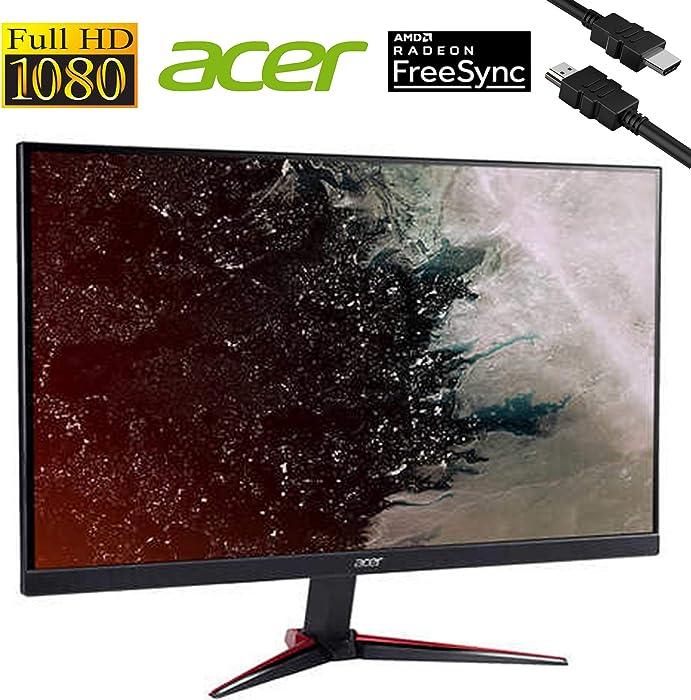 "Flagship 2020 Acer Nitro 27"" Class Widescreen 1920 x 1080 FHD IPS 75Hz Refresh Rate AMD FreeSync 1ms Virtual Response Boost Widescreen Gaming Monitor HDMI VGA Inputs + iCarp HDMI Cable"