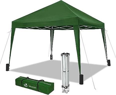 VOUNOT Cenador de jardín 3x3m Plegable   Carpa de jardín Plegable rápida para Instalar   Toldo Plegable para Camping, Festival, Playa, Jardines   ...