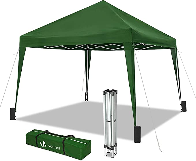 VOUNOT Cenador de jardín 3x3m Plegable | Carpa de jardín Plegable rápida para Instalar | Toldo Plegable para Camping, Festival, Playa, Jardines | ...