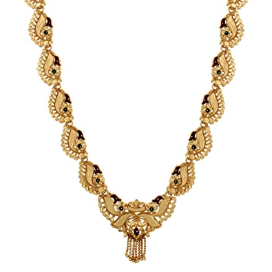 651f8fb64e4267 Buy Gold Nera Gold Plated 22K Pendant/Traditional Floral Shape Enamel Ethnic /Necklace for Women Online at Low Prices in India | Amazon Jewellery Store  ...