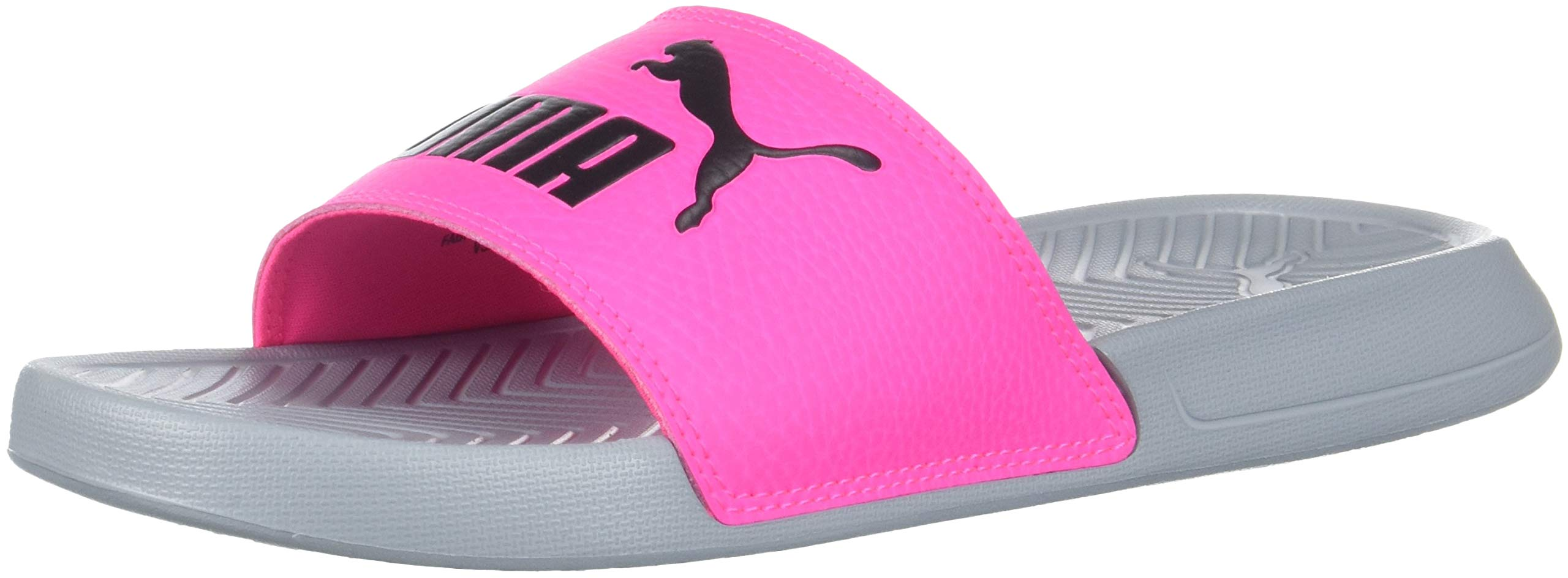 PUMA Unisex Popcat Slide Sandal, Quarry-Knockout Pink, 5 M US Big Kid