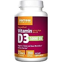 Jarrow Formulas Vitamin D3 Calcium and Bone Metabolism, 25 Mcg (1000IU) Softgels...