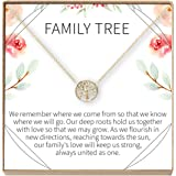 Dear Ava Family Tree Necklace Gift: Tree of Life Necklace, Pendant, Charm, Generations, Tree