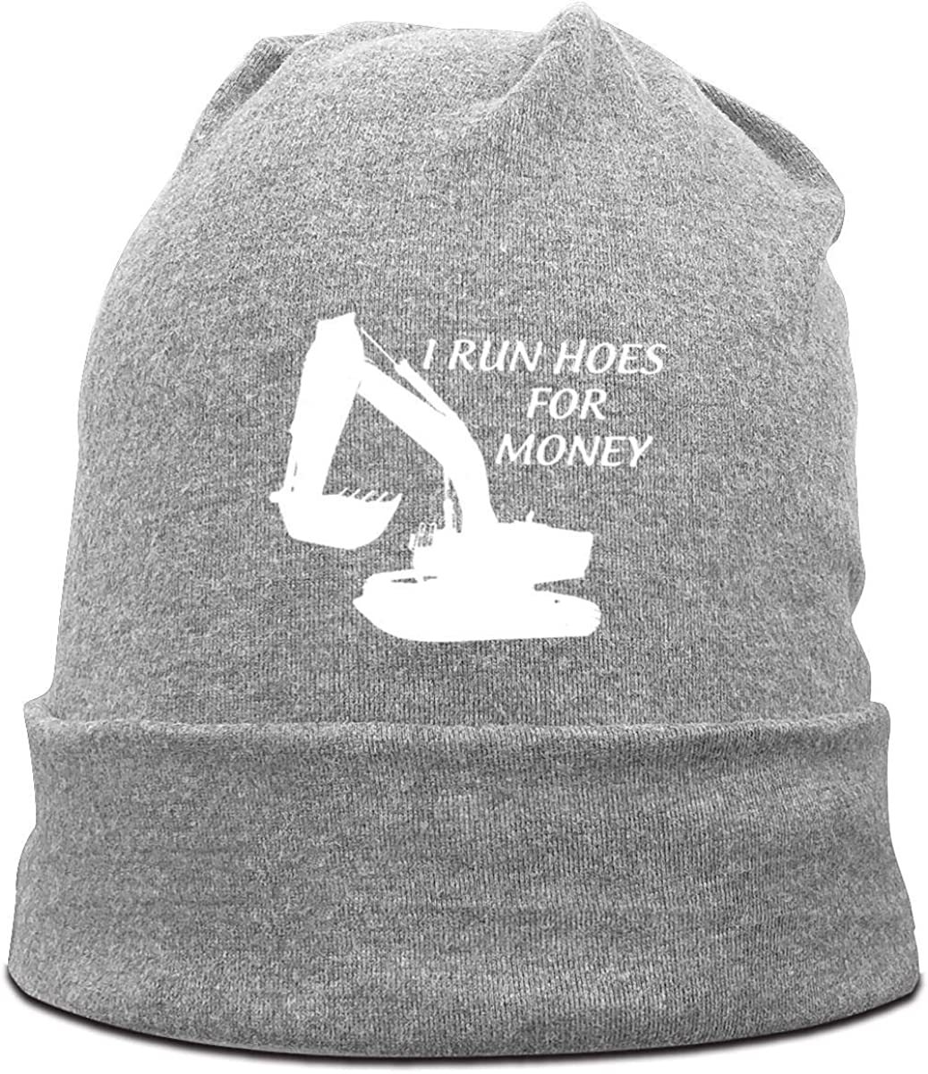 I Run Hoes for Money Classic Beanie Hat for Mens Ski Caps