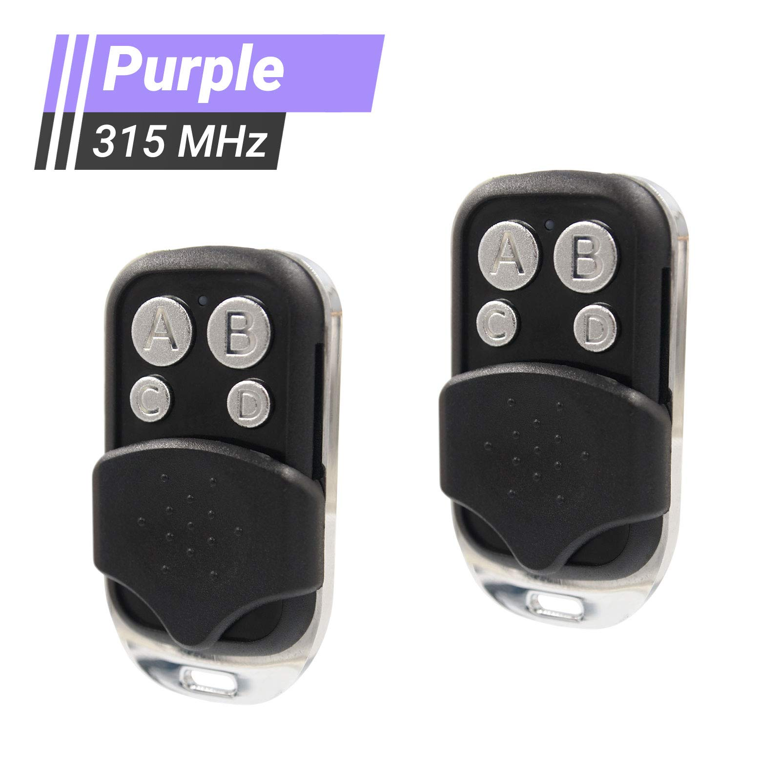 2 Pack - Replacement for LiftMaster 370LM 371LM 372LM 373LM - Chamberlain 950D 953D 956D - Craftsman 139.53753 Remote - Compatible with Garage Door Openers with Purple Learn Button 315MHz (C-SP-315)