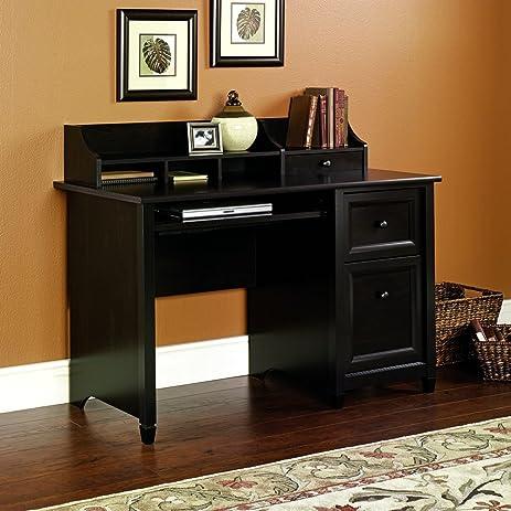 Amazon.com: Sauder Edge Water Computer Desk, Estate Black Finish ...