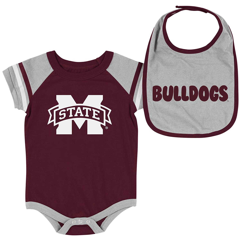 【史上最も激安】 Colosseum NCAA-Roll Out- Mississippi ベビー半袖ボディスーツとお揃いのよだれかけ Months 2パックセット - 新生児と幼児サイズ B07GTS2V92 State Mississippi State Bulldogs 0-3 Months 0-3 Months Mississippi State Bulldogs, 上川村:4fc19b45 --- movellplanejado.com.br