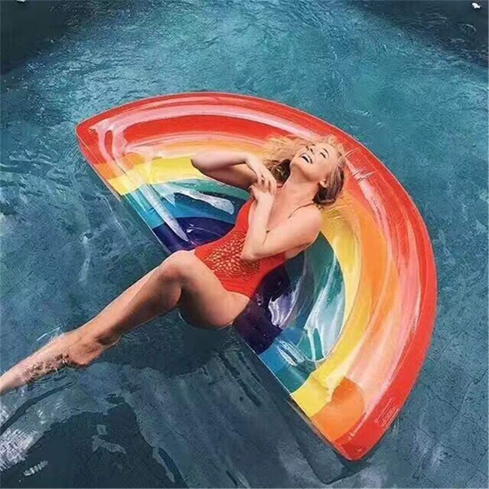 膨脹可能な虹の浮遊列大人水虹の浮遊ベッド/浜休日は水スポーツを供給します