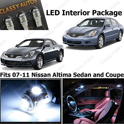 Amazon.com: Classy Autos Nissan Altima White Interior LED Package (7 Pieces): Automotive