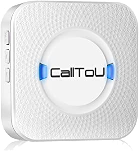 CallToU Wireless Caregiver Pager Calling System Door Chime Entrance Chime Entry Alert For Home Retail Store Business shop Plugin Receiver (Need to Be Paired with Transmitter then the unit can work)