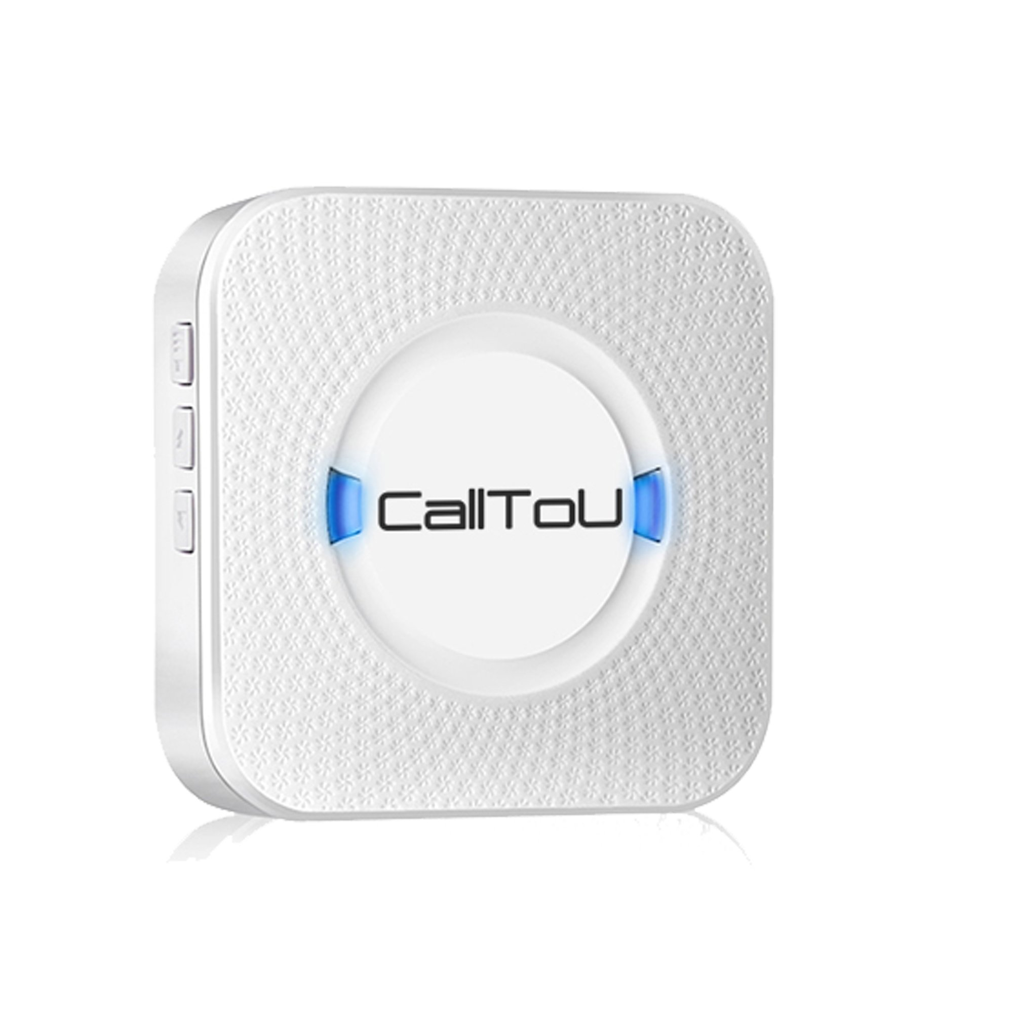 CallToU Wireless Caregiver Pager Call System for Elderly Door Entrance Chime Entry Alarm For Home, Business, shop, Apartment, Office 1 Receiver(Need to Be Paired with CallToU Transmitter to Work)