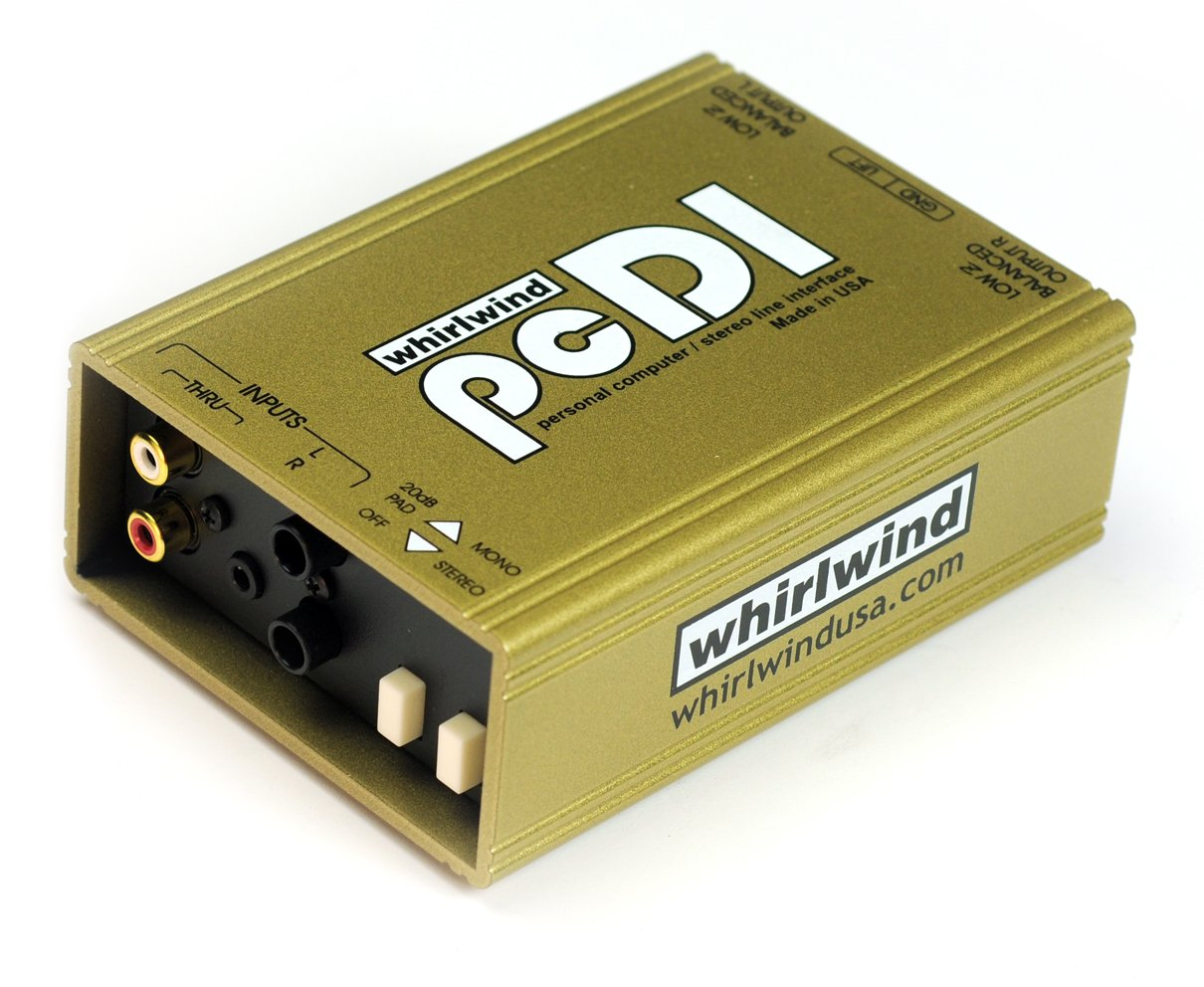 Whirlwind pcDI Direct Box for Interfacing Outputs CD Players, Sound Cards, iPod  MP3 Players by Whirlwind