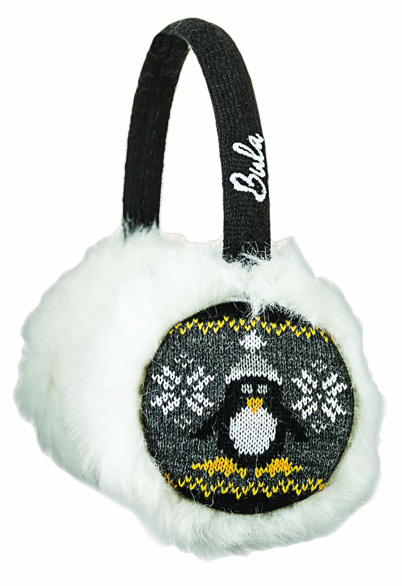 BULA Penguin Earmuffs Black One Size KTEPEN