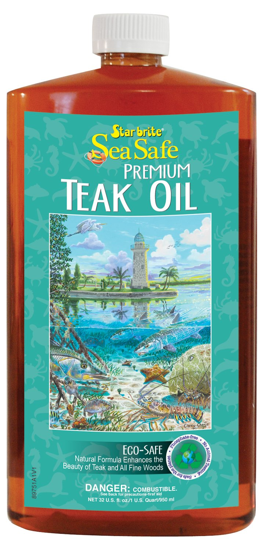 Star brite Sea Safe Teak Oil Low Voc - 32 oz