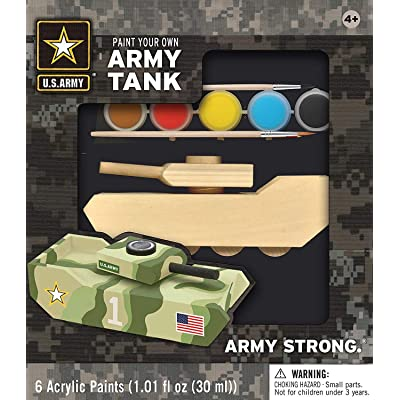 MasterPieces Works of Ahhh Army Tank Large Wood Paint Kit: Toys & Games