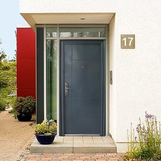Puerta de puerta casa Seguridad Puerta Hogar puertas puerta 96 x 205 cm DIN izquierda Antracita Modelo 9: Amazon.es: Bricolaje y herramientas