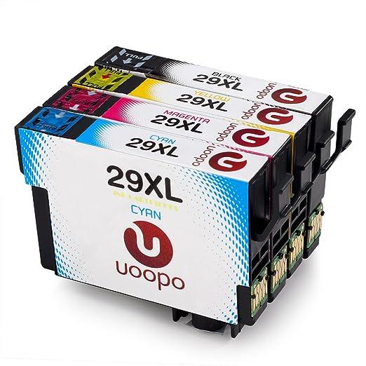 12 opinioni per Uoopo 4 Pack Compatibile Sostituzione per Epson 29XL Cartucce d'Inchiostro per
