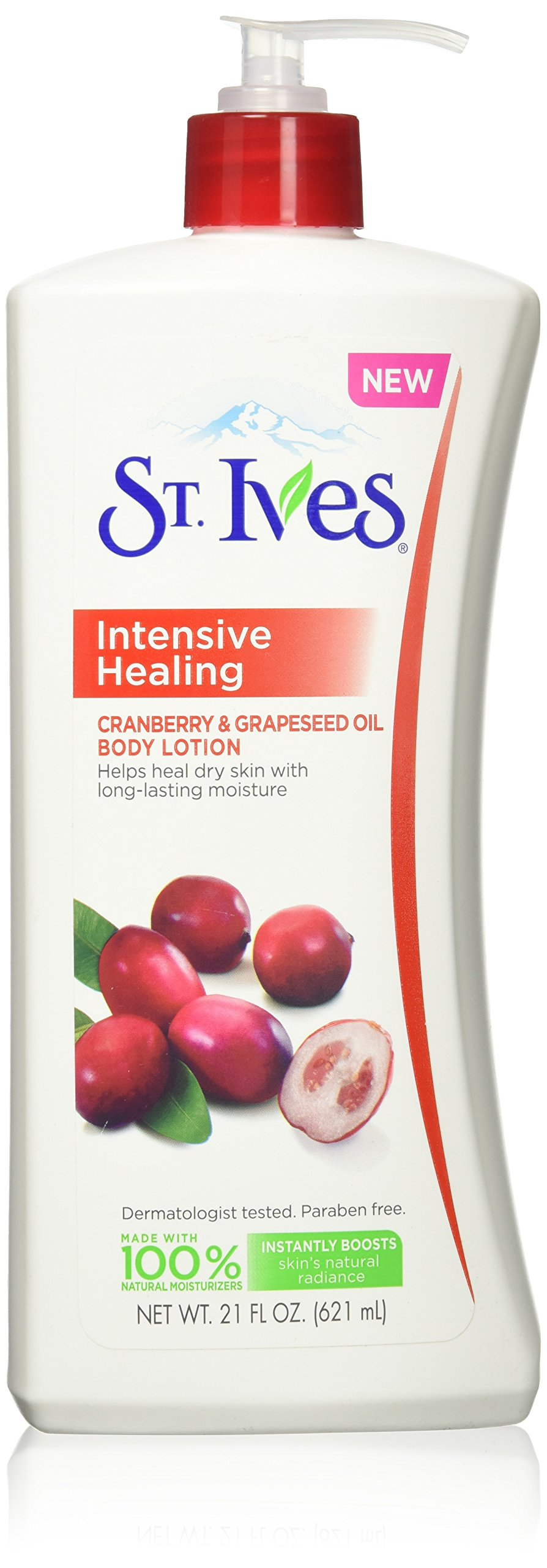 St Ives Repairing Body Lotion, Cranberry and Grapeseed Oil, 21 Ounce (3 Pack) by St. Ives