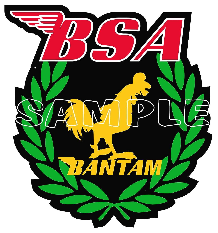 use on Motorbikes Scooters 60MM BSA RETRO BANTAM WINNER STICKER Leg Shields. Helmets