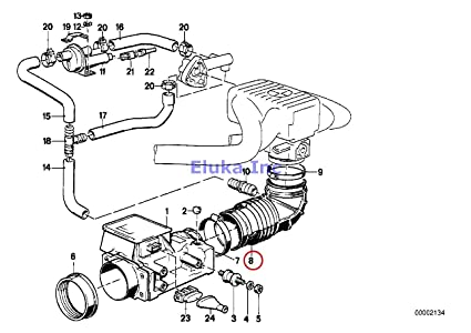 Amazon Com Bmw Genuine Fuel Injection Volume Air Flow Sensor Rubber