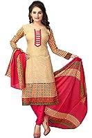 Vaamsi Women's Salwar Suit Dress Material(Cocp21_Beige_ Free Size)